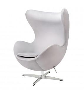 Fotel EGG CLASSIC VELVET jasny szary
