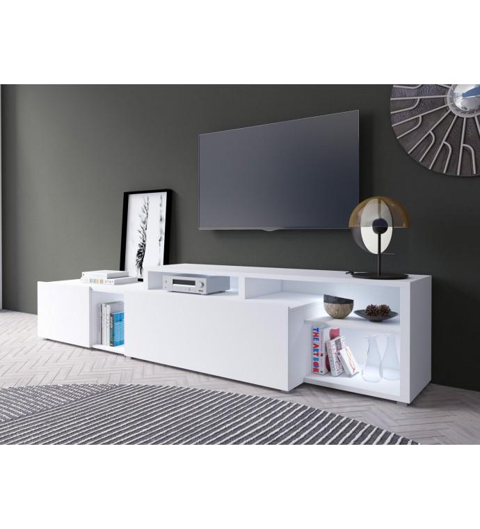 Stolik pod TV VENTO 225 cm biały