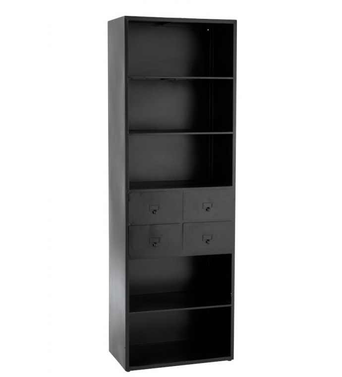 Regał Cabinet 60 cm czarny do gabinetu