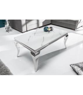 Stolik kawowy Modern Barock 100 cm w optyce marmuru do salonu
