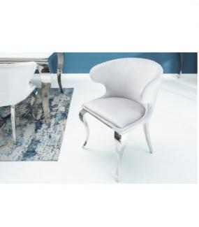 Krzesło Modern Barock II Szary Aksamit