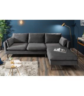 Sofa Famous 260 cm srebrnoszara