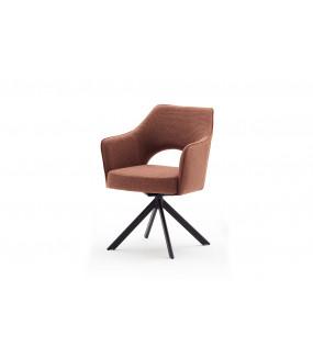 Krzesło TONALA S Z Obrotowym Siedziskiem brązoworude