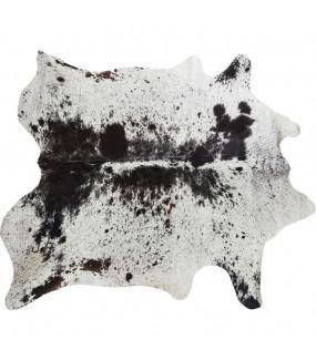 Dywan skórzany Hide w kolorze czarno białym