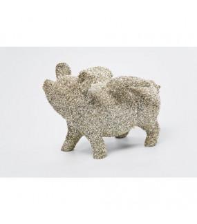 Dekoracyjna Figurka Flying Pig Glitter
