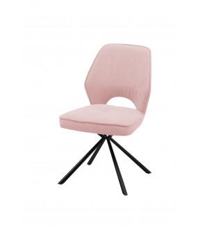 Krzesło NELE z obrotowym siedziskiem różowe