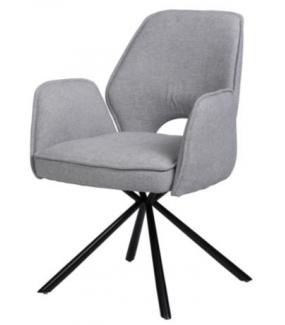 Krzesło NELE z obrotowym siedziskiem szare