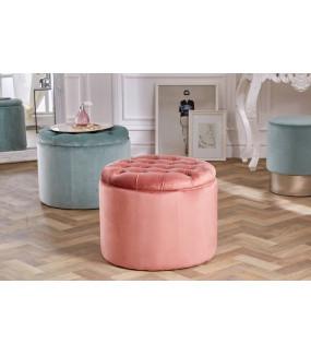 Pufa Modern Barock 50 cm antyczny różowy aksamit