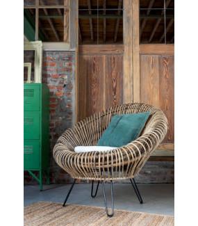 Krzesło Lounge Viki rattan naturalne