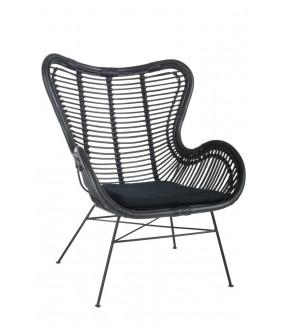 Krzesło Rattan czarne