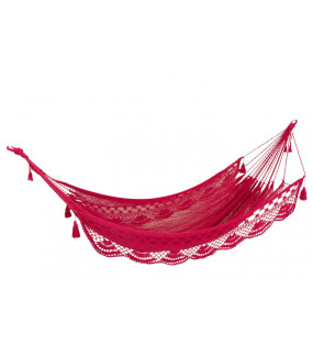 Hamak Lace bawełna różowy