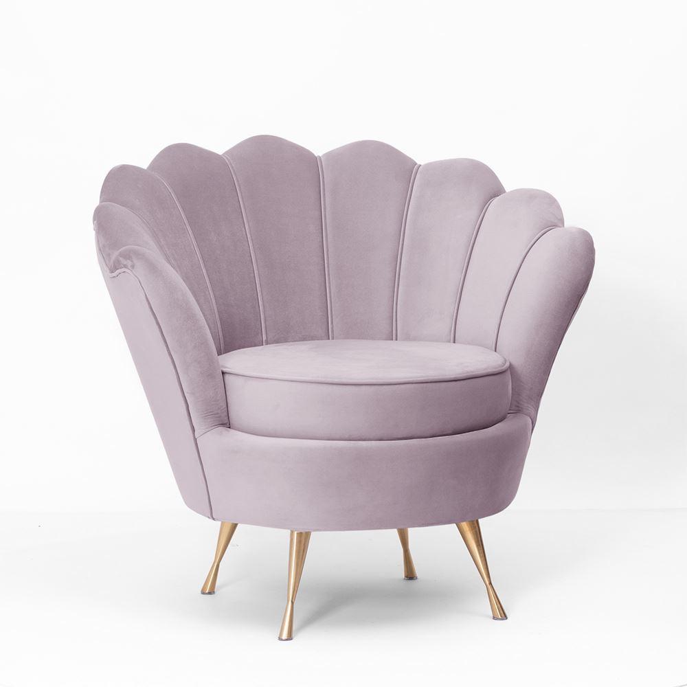 Fotel Shell Ze Złotymi Nogami