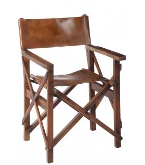 Krzesło Director brązowe
