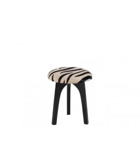 Stołek Zebra skóra czarno biały