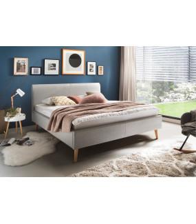 Łóżko Paula jasnoszare