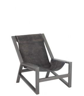 Fotel Relax skóra szary