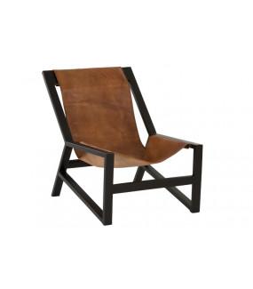 Fotel Relax skóra brązowy