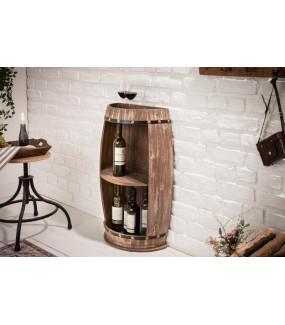 Stojak na wino do nowoczesnego salonu lub jadalni w stylu skandynawskim