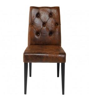 Krzesło Casual Buttons antyczny brąz