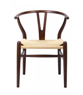 Krzesło WISHBONE ciemny brąz do salonu