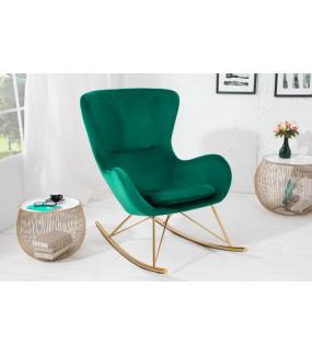 Fotel bujany Scandinavia Swing szmaragdowo zielony