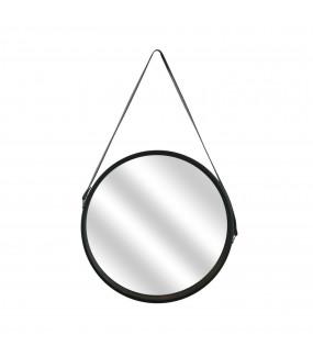 Lustro okrągłe Runa 50 cm czarne