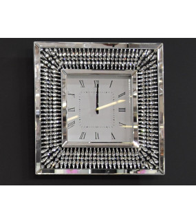Zegar Glamour lustrzany 50 cm x 50 cm