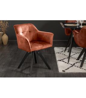 Krzesło Loft miedziano-brązowy aksamit