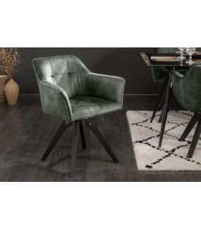 Krzesło Loft zielony aksamit