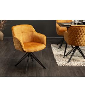 Krzesło Edmonton musztardowe