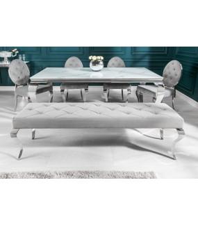 Ławka Modern Barock 170 cm srebrna