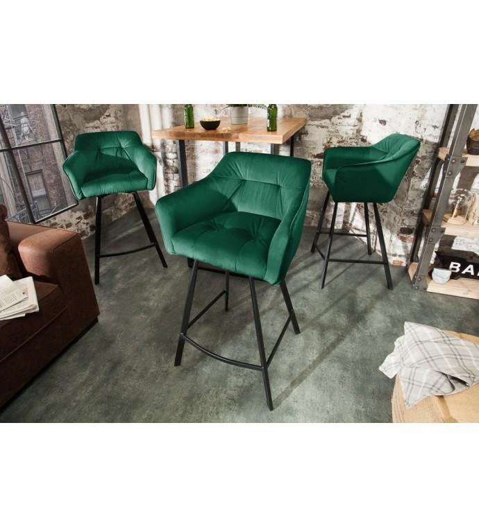 Krzesło Barowe Loft zielone
