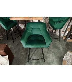 Krzesło Barowe Loft zielone do salonu