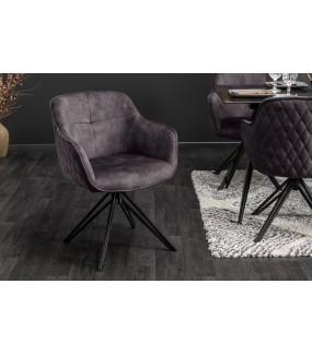 Krzesło Edmonton ciemnoszare