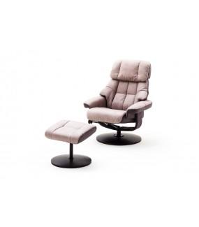 Fotel LIMERICK z podnóżkiem grafitowy