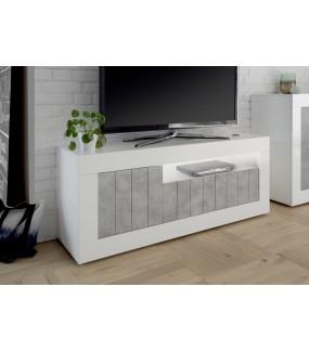 Stolik pod Tv URBINO 138 cm biało szary
