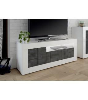 Stolik Pod Tv URBINO 138 Cm z dodatkiem Ciemnoszarym
