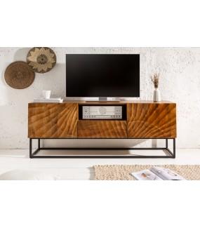 Stolik pod TV DAVIDE 160 Cm Mango do salonu w stylu nowoczesnym. Idealny do pokoju w stylu retro.