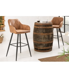 Krzesło barowe Turin brązowe