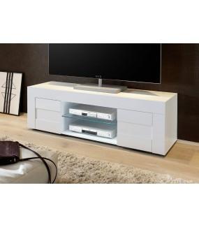 Stolik pod TV EASY 138 cm biały