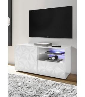 Stolik pod TV PRISMA 122 cm biały