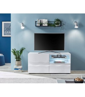 Stolik pod TV WAVE 122 cm biały