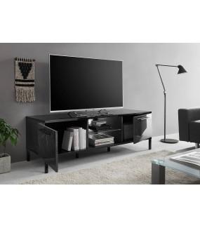 Stolik pod TV MANGO 156 cm w optyce czarnego marmuru