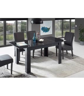 Stół MANGO 137 cm - 185 cm W Optyce Antracytowego Marmuru do salonu