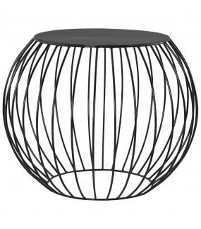 Stolik kawowy VENI 60 cm czarny do salonu