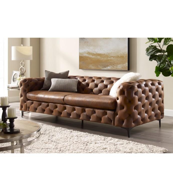Sofa Modern Barock 240 cm brązowa