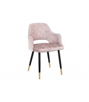 Krzesło Paris velvet w odcieniu brudny róż