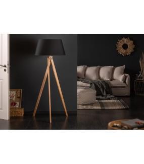 Lampa Podłogowa Tripod 155 Cm czarna