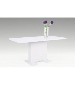 Stół rozkładany WIEBKE 120 cm - 160 cm biały do salonu
