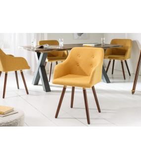 Krzesło Scandinavia musztardowe